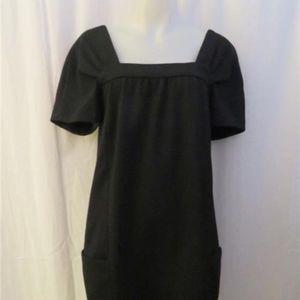 VINCE BLACK SQUARE NECK TUNIC DRESS  8